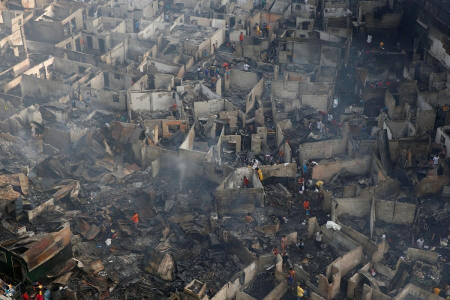 Philippine slum,Fire at Philippine slum,Manila shantytown
