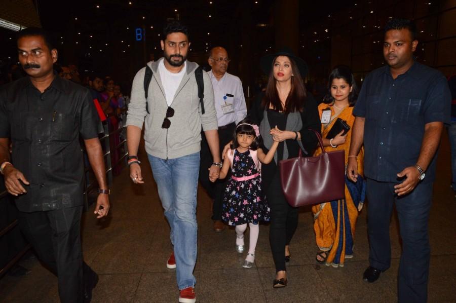 Abhishek Bachchan,Aishwarya Rai,Aaradhya bachchan,Aaradhya,Aishwarya Rai Bachchan,New Year Celebrations,actor Abhishek Bachchan,actress Aishwarya Rai