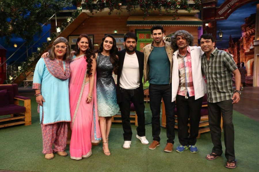 Shradha Kapoor and Aditya Roy Kapoor,Shradha Kapoor,Aditya Roy Kapoor,OK Jaanu,OK Jaanu promotions,OK Jaanu movie promotions,The Kapil Sharma Show,The Kapil Sharma Show on the sets,OK Jaanu on The Kapil Sharma Show