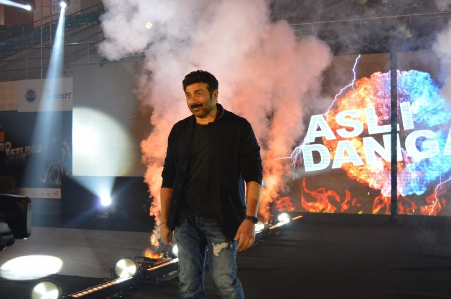 Sunny Deol,actor Sunny Deol,Pro Wrestling League 2017,Pro Wrestling League,KD Jadhav Indoor Stadium,Pro Wrestling League pics,Sunny Deol pics,Sunny Deol images,Sunny Deol photos,Sunny Deol stills,Sunny Deol pictures