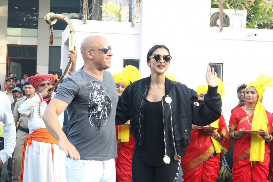Vin Diesel,actor Vin Diesel,Deepika Padukone,Vin Diesel arrives in India,Vin Diesel in India