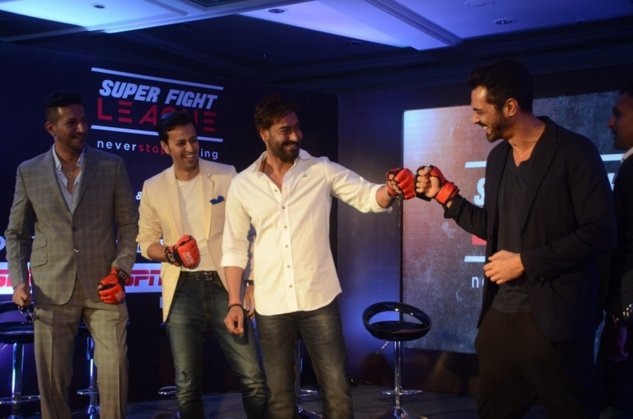 Ajay Devgan & Arjun Rampal,Ajay Devgan,Arjun Rampal,Super Fight League programme,Super Fight League,Mixed Martial Arts competition,Mixed Martial Arts