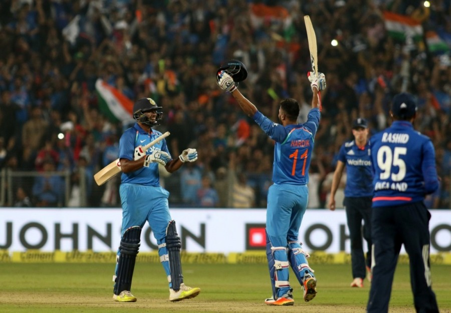 India vs England,India vs England 2017,India vs England score,India vs England first one-day international,Virat Kohli,Kedar Jadhav,Maharashtra Cricket Association Stadium,three-wicket victory,Ind vs Eng