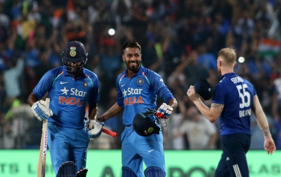 India vs England,India vs England 2017,India vs England score,India vs England first one-day international,Virat Kohli,Kedar Jadhav,Maharashtra Cricket Association Stadium,three-wicket victory,Ind vs Eng
