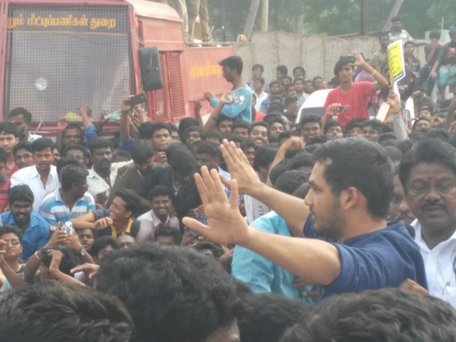 Hiphop Tamizha,Aadhi,Hiphop Tamizha at Jallikattu protest,Aadhi at Jallikattu protest,Jallikattu Ban,Jallikattu protest,Jallikattu protest pics,Jallikattu protest images,Jallikattu protest photos,Jallikattu protest stills,Jallikattu protest pictures