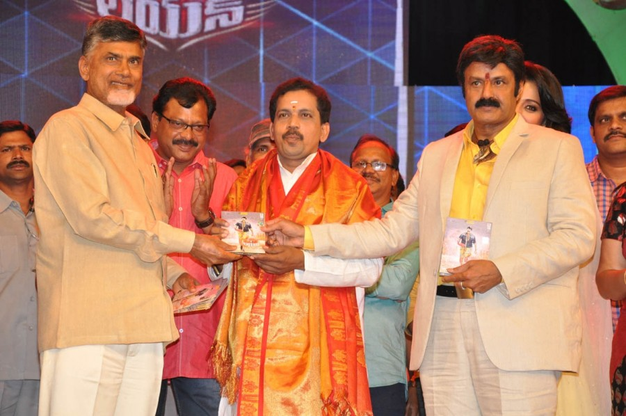 Telegu movie Lion audio launch,Telegu movie Lion audio launch photos,images of Telegu movie Lion audio launch,Chandrababu launch Lion audio,Balakrishana's Lion Audio Launch Released,Lion (2015 film),Balakrishna's Lion audio launch,Trisha at Lion Audio Lau