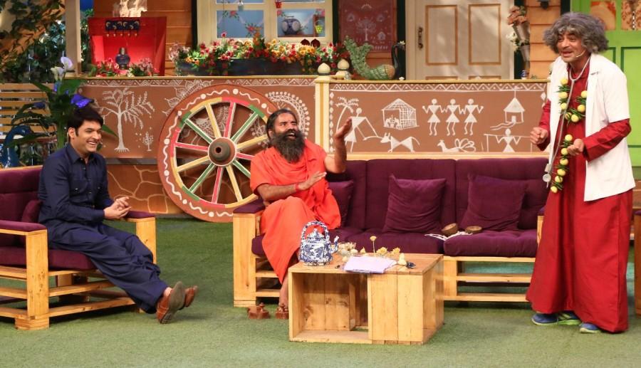 Baba Ramdev,Yoga Guru Baba Ramdev,Kapil Sharma's show,Kapil Sharma,Kapil Sharma show,Baba Ramdev promotes patriotism