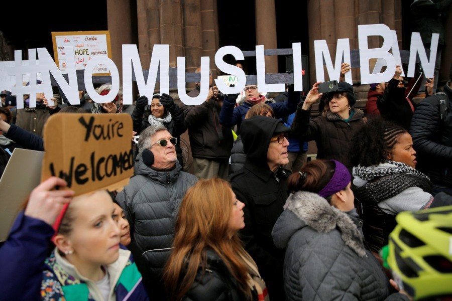 #NoMuslimBan,No Muslim Ban,NoMuslimBan,Trump's travel ban,Donald Trump,Protests erupt over Donald Trump,Muslim,Muslim ban