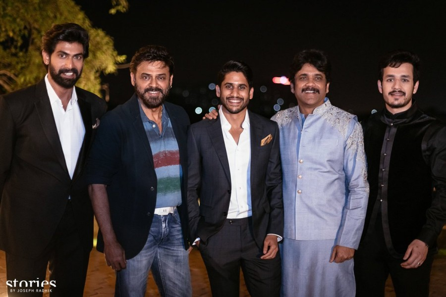Rana Daggubati,Venkatesh,Daggubati Venkatesh,Naga Chaitanya and Samantha,Naga Chaitanya,Samantha,Naga Chaitanya and Samantha engagement,Naga Chaitanya and Samantha engagement pics,Naga Chaitanya and Samantha engagement images,Naga Chaitanya and Samantha e