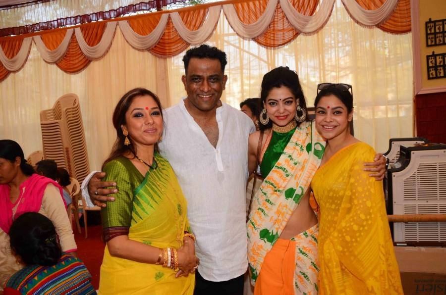 Pooja ceremony,Saraswati,Saraswati pooja,Anurag Basu Place,Anurag Basu
