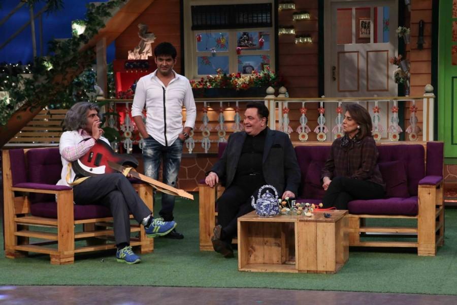 Rishi Kapoor and Neetu Kapoor,Rishi Kapoor,Neetu Kapoor,Khullam Khulla,Rishi Kapoor Uncensored,The Kapil Sharma Show,The Kapil Sharma Show on the sets