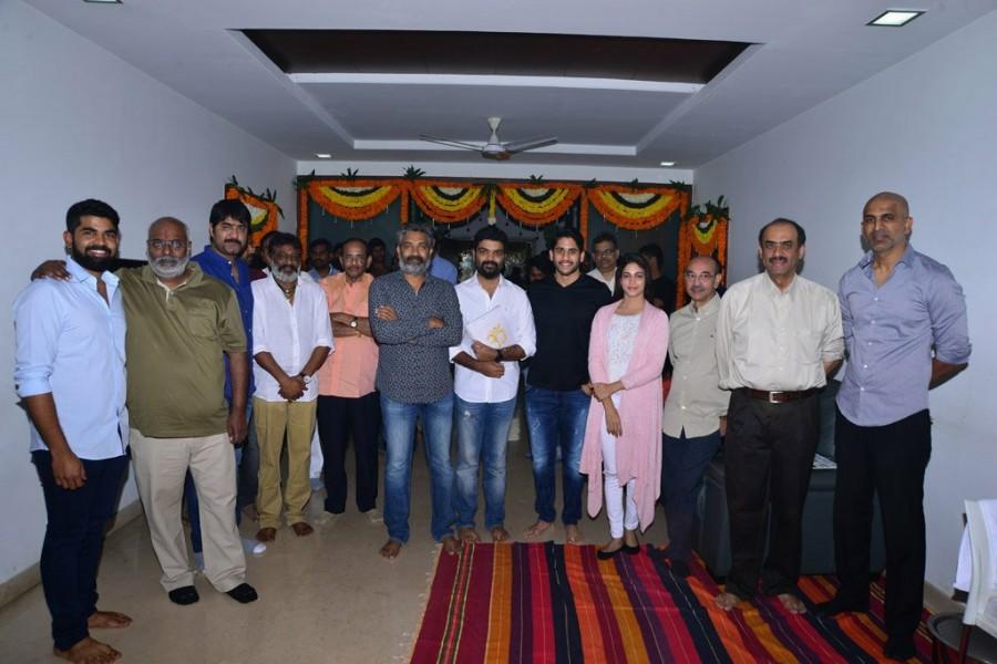 Naga Chaitanya,Lavanya Tripathi,Sai Korrapati,Suresh Babu,Director Krishna RV Marimuthu,Producer Sai Korrapati,SS Rajamouli,Keeravani,D Suresh Babu,Srikanth,Vijayendra Prasad,Devineni Prasad