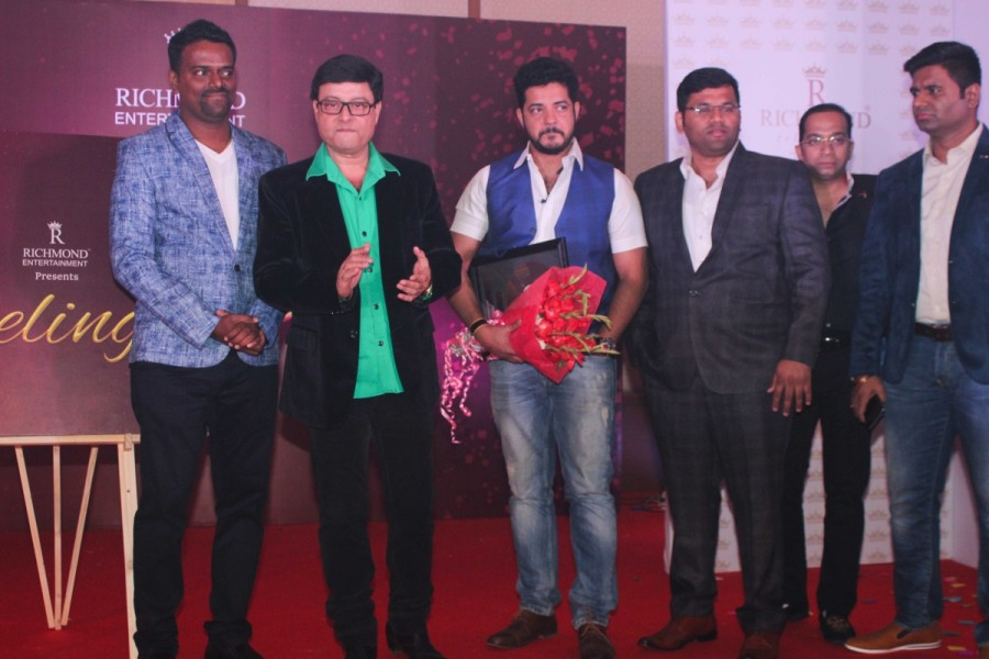 Launch of music album Feelings,Abhishek Vichare,Co-founder and CEO of Richmond Group,Bollywood and Marathi actor Sachin Pilgaonkar,Music Director Kiran Vilas Khot,singer Swapnil Bandodkar
