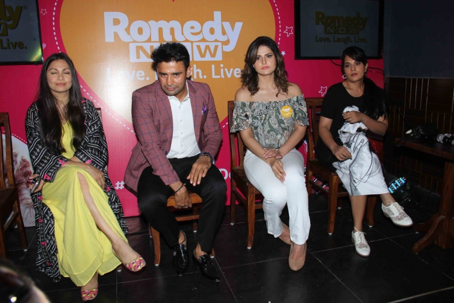 Sangram Singh,Maria Goretti,Zareen Khan,#FurrentinesDay celebration,#FurrentinesDay,Romedy NOW,Indian wrestler Sangram Singh