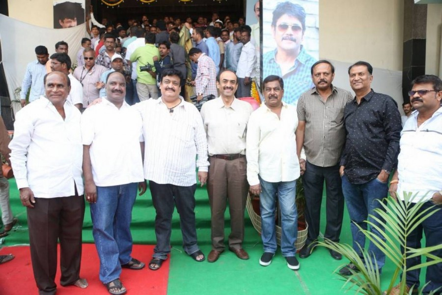 Akkineni Nagarjuna,Nagarjuna,actor Nagarjuna,Nagarjuna launches Swapna Theatre,Swapna Theatre,Nagarjuna launches Swapna Theatre pics,Nagarjuna launches Swapna Theatre images,Nagarjuna launches Swapna Theatre photos,Nagarjuna launches Swapna Theatre stills