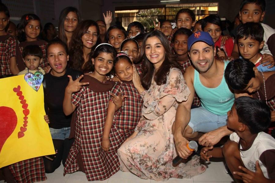Varun Dhawan and Alia Bhatt,Varun Dhawan,Alia Bhatt,Valentine's Day,Valentine's Day celebrations,orphan child,Bandra,Mumbai