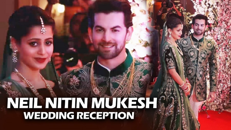 Salman Khan,Amitabh Bachchan,Katrina Kaif,Rekha,Neil Nitin Mukesh and Rukmini Sahay,Neil Nitin Mukesh,Rukmini Sahay,Neil Nitin Mukesh reception,Neil Nitin Mukesh wedding reception,Neil Nitin Mukesh reception pics,Neil Nitin Mukesh reception images,Neil Ni