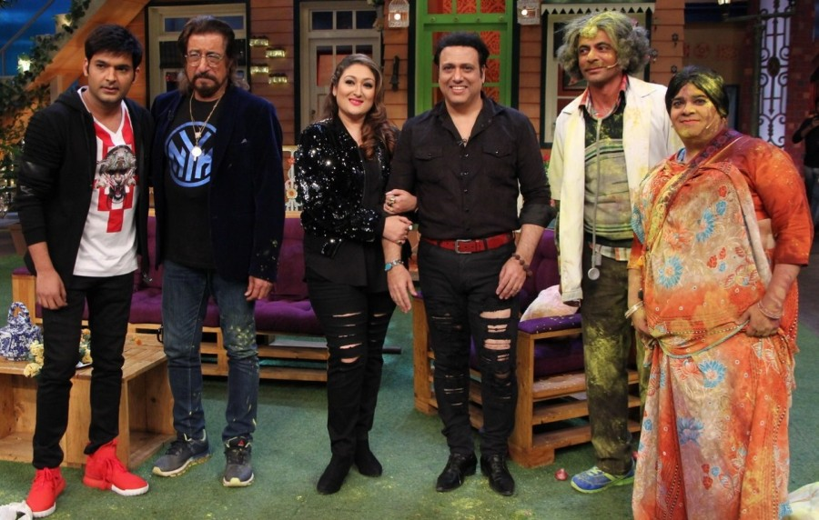 Govinda and Shakti Kapoor,Govinda,Shakti Kapoor,Aa Gaya Hero,Aa Gaya Hero promotion,Aa Gaya Hero movie promotion,The Kapil Sharma Show