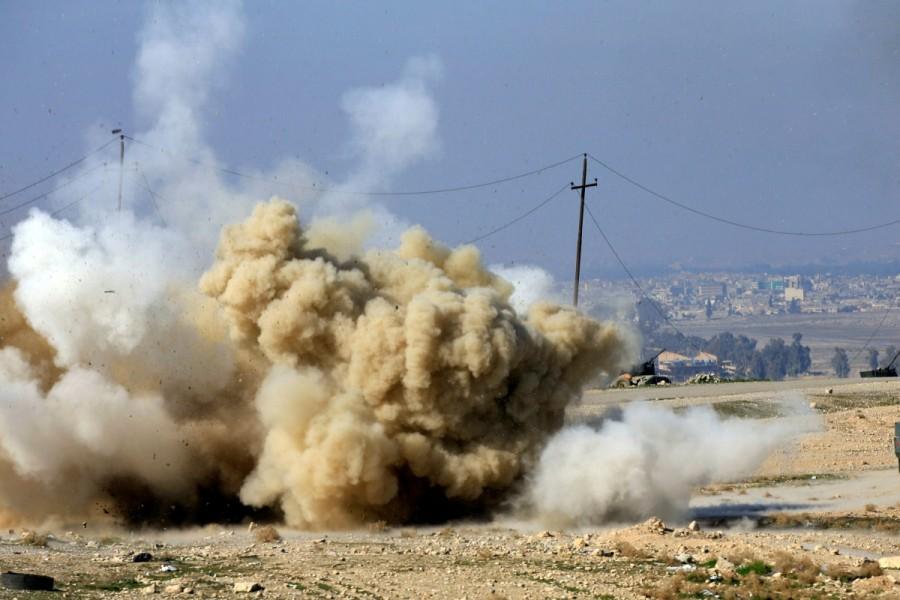 Iraqi forces,Mosul,Iraqi forces push into Mosul,U.S.-backed Iraqi forces
