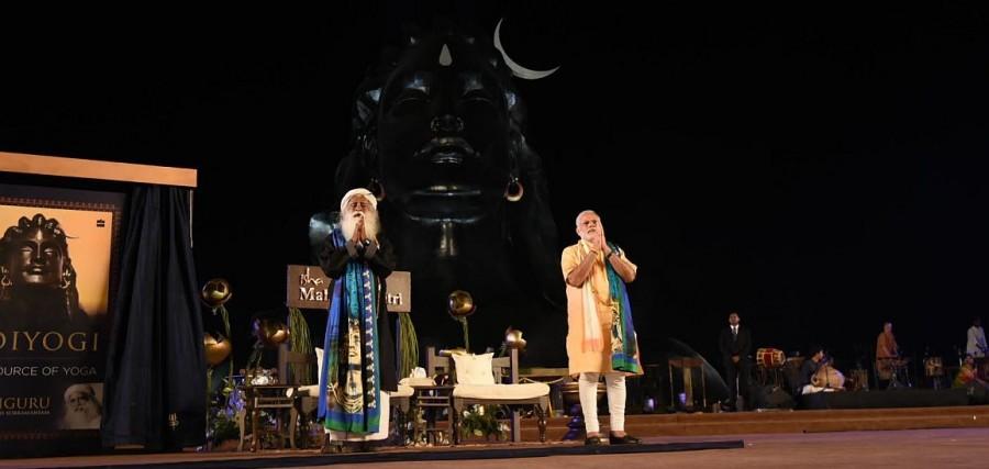 PM Narendra Modi,Narendra Modi,Modi unveils 112-feet-tall statue,Mahashivratri,Maha shivratri,Mahashivratri 2017,Lord Shiva on Mahashivratri
