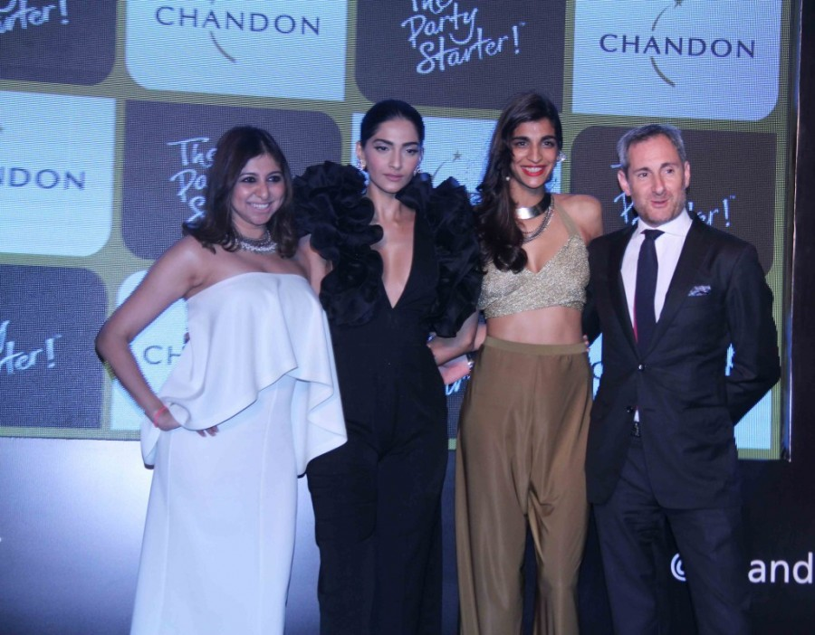 Sonam Kapoor,Anushka Manchanda,Sana Khan,Launch of Chandon's The Party Starter,Chandon's The Party Starter launch