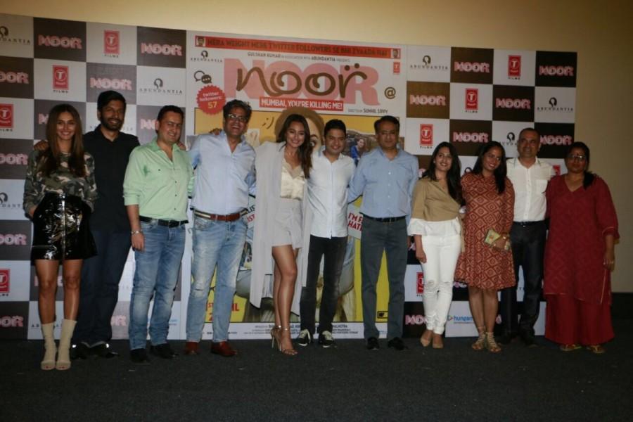 Sonakshi Sinha,Noor trailer launch,Noor trailer,Noor trailer launch pics,Noor trailer launch images,Noor trailer launch photos,Noor trailer launch stills,Noor trailer launch pictures,Sunhil Sippy,Bhushan Kumar,Krishan Kumar