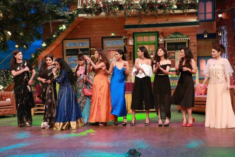Vidya Balan,Gauahar Khan,Begum Jaan,Begum Jaan promotion,Begum Jaan movie promotion,The Kapil Sharma Show,Vidya Balan on The Kapil Sharma Show,bollywood movie Begum Jaan,Begum Jaan movie