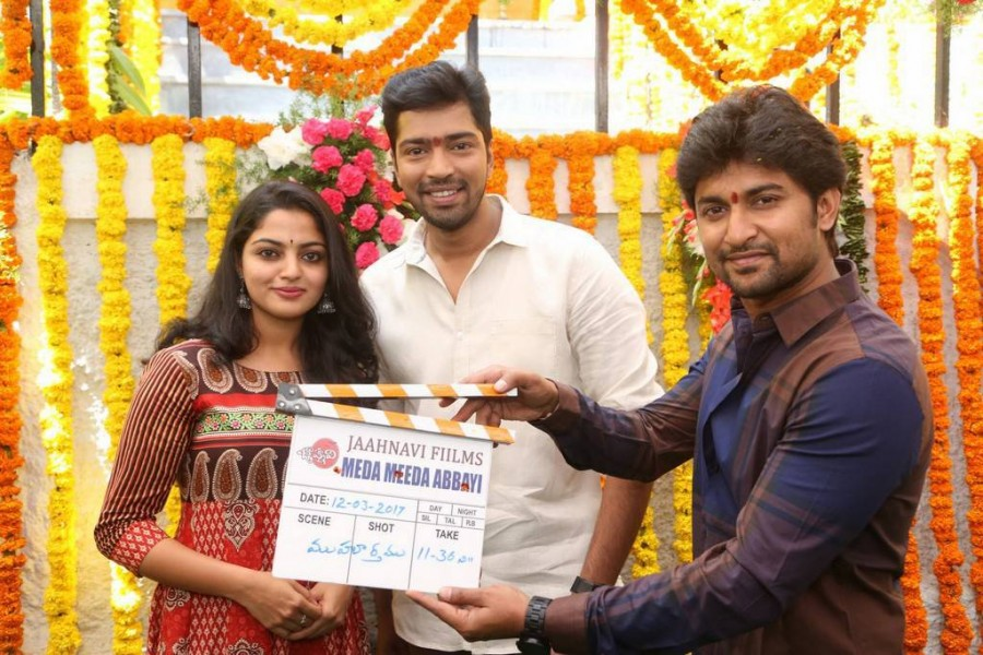 Allari Naresh-Meda Meeda Abbayi Movie Launch Photos,Allari Naresh-Meda Meeda Abbayi Movie Launch Photo Gallery,Allari Naresh-Meda Meeda Abbayi Movie Launch Stills,Allari Naresh-Meda Meeda Abbayi Movie,Meda Meeda Abbayi Movie,Allari Naresh,Nikhila Vimal,Na