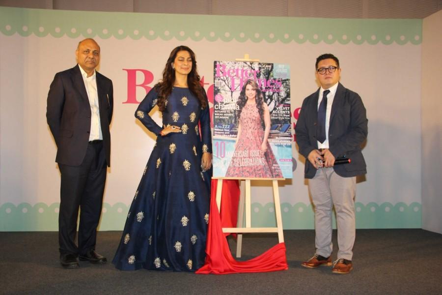 Juhi Chawla,actress Juhi Chawla,Gardens magazine,Gardens magazine 10th anniversary celebration,Juhi Chawla at Gardens magazine launch,Gardens magazine launch