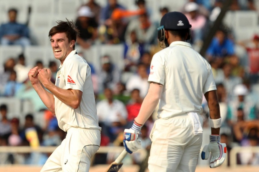 Lokesh Rahul,India end second day,India vs Australia,india vs australia test series 2017,india vs australia test series,Vijay,Murali Vijay,Cheteshwar Pujara