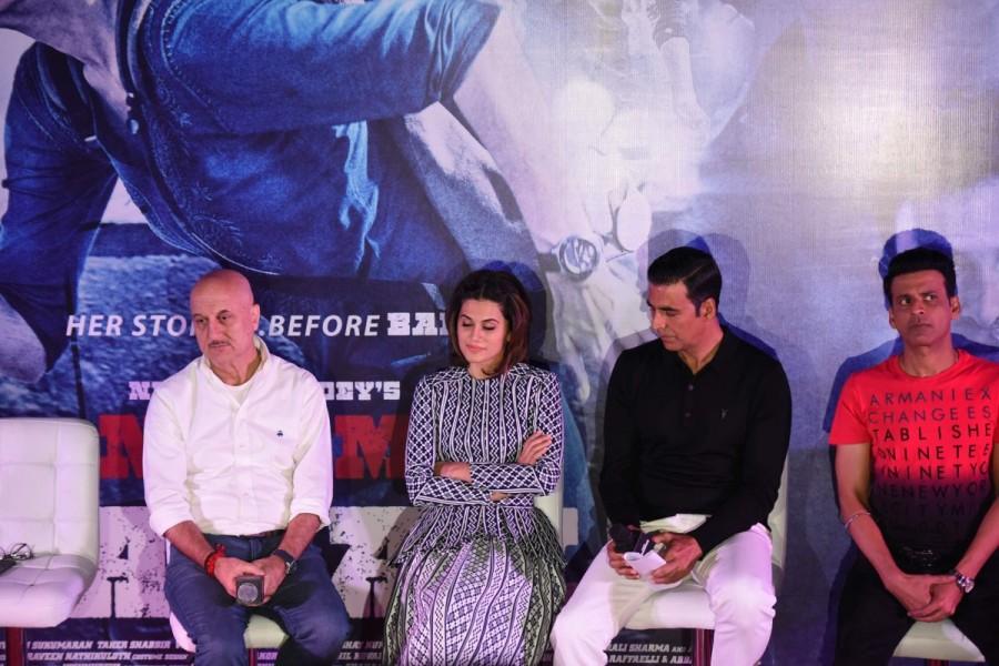 Akshay Kumar,Taapsee Pannu,Anupam Kherm,Manoj Bajpayee,Naam Shabana,Naam Shabana promotion,Naam Shabana movie promotion