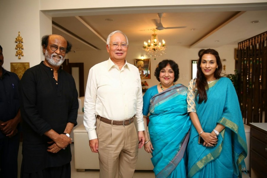 Malaysian PM Najib Razak,Najib Razak,PM Najib Razak,Najib Razak meets superstar Rajinikanth,Najib Razak meets Rajinikanth,Rajinikanth,superstar Rajinikanth