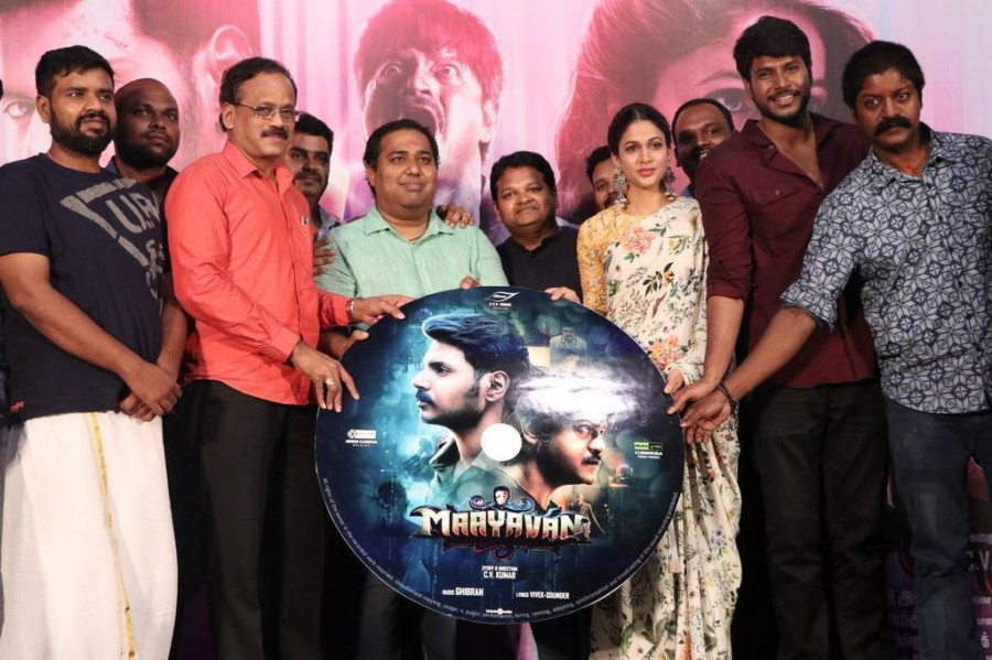 Sandeep Kishan,Lavanya Tripathi,Daniel Balaji,CV Kumar,Ghibran,Abinesh Elangovan,Arun Pandian,Leo John Paul,Maayavan,Maayavan audio launch,Maayavan audio launch pics,Maayavan audio launch images,Maayavan audio launch stills,Maayavan audio launch pictures