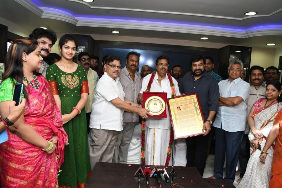 Megastar Chiranjeevi,Chiranjeevi,Allu Ramalingaiah,Allu Ramalingaiah award,Dasari Narayana Rao,Mohan Babu,Allu Aravind