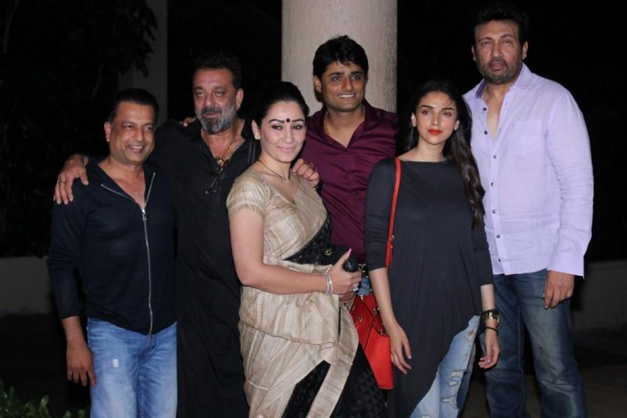 Sanjay Dutt,Aditi Rao Hydari,Manyata Dutt,Producer Sandeep Singh and actor Shekhar Suman,Bhoomi,sanjay dutt bhoomi shooting