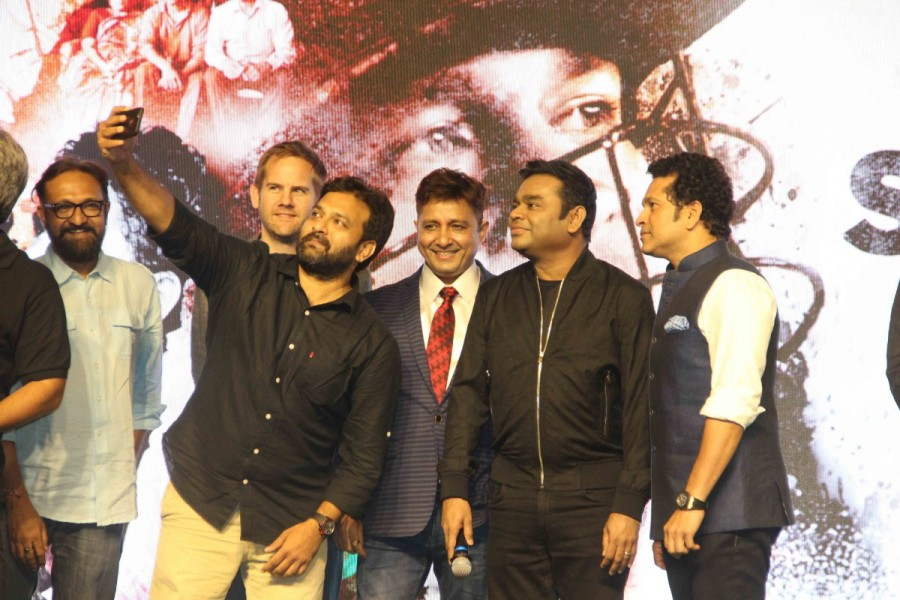 AR Rahman,Sachin Tendulkar,Sukhwinder Singh,Sachin: A Billion Dreams,Sachin: A Billion Dreams song launch,Sachin: A Billion Dreams song launch pics,Sachin: A Billion Dreams song launch images,Sachin: A Billion Dreams song launch stills,Sachin: A Billion D