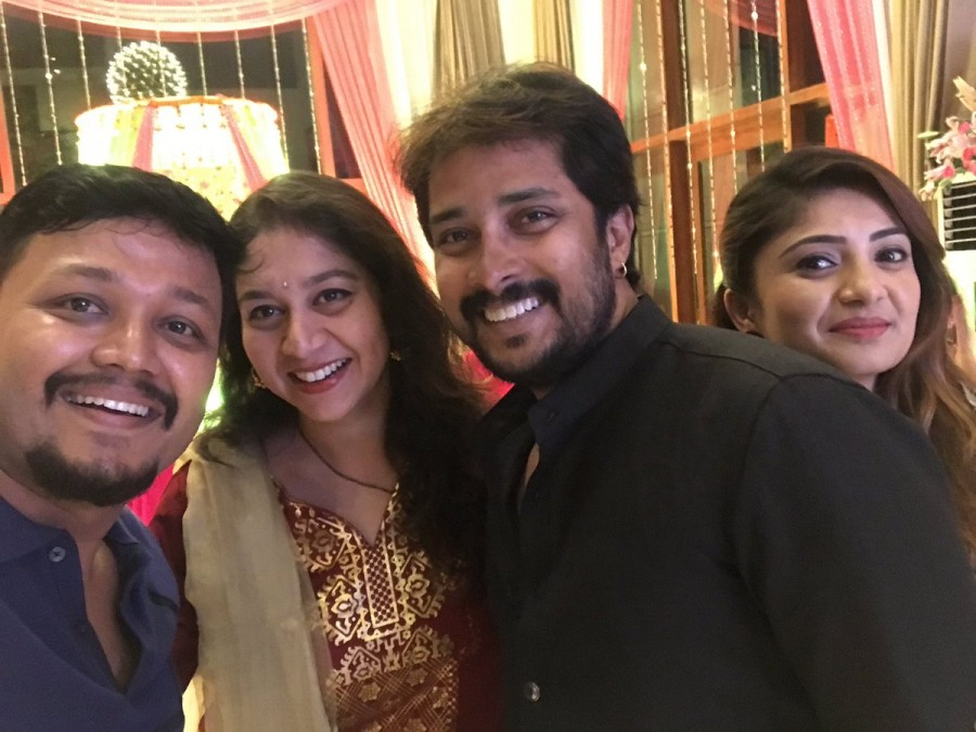 Amulya mehendi ceremony,amulya wedding,amoolya marriage,jagadish chandra,amulya jagadish wedding,kannada actress wedding,amulya,jagadish,shilpa ganesh,Ganesh,Prem,Sharan