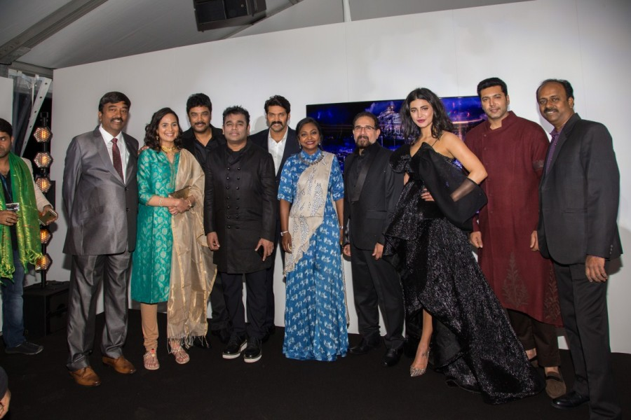 Jayam Ravi,Shruti Haasan,Arya,AR Rahman,Sanghamitra first look poster launch,Sanghamitra first look poster,Cannes Film Festival,Cannes Film Festival 2017,Sanghamitra at Cannes Film Festival