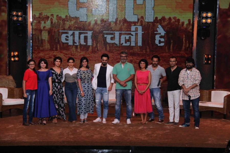Aamir Khan,actor Aamir Khan,Dangal,Dangal team,Dangal team on Sa Re Ga Ma Pa,Sa Re Ga Ma Pa,Sa Re Ga Ma Pa on the sets,bollywood actor Aamir Khan
