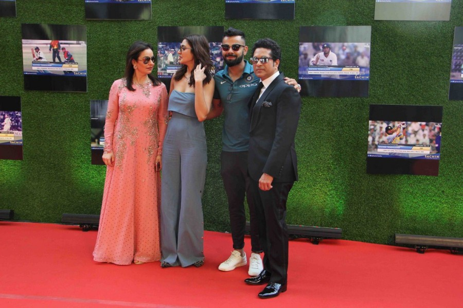 Virat Kohli and Anushka Sharma,Anushka Sharma and Virat Kohli,Anushka Sharma,Virat Kohli,Sachin: A Billion Dreams,Sachin: A Billion Dreams premiere show,Sachin: A Billion Dreams premiere show pics,Sachin: A Billion Dreams premiere show images,Sachin: A Bi