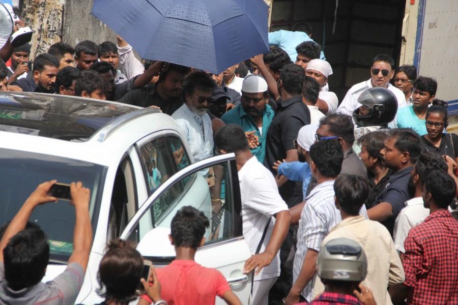 Rajinikanth,Superstar Rajinikanth,Kaala Karikaalan,Kaala Karikaalan shooting,Kaala Karikaalan shooting in Mumbai,Kaala Karikaalan in Mumbai,Rajinikanth in Mumbai
