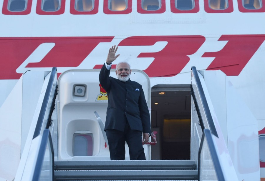 PM Narendra Modi,Narendra Modi,Narendra Modi arrives in Paris,Narendra Modi in Paris,Modi in Paris,Four-nation Tour
