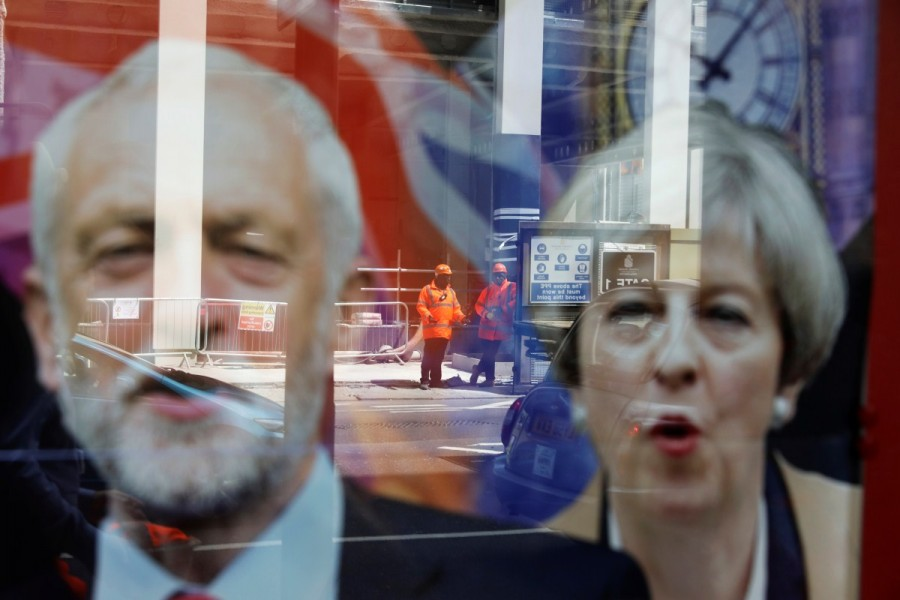Britain's Prime Minister,Theresa May,Britain's Prime Minister Theresa May,Britain Prime Minister Theresa May,Labour Party,Jeremy Corbyn,UK campaign trail,UK General election,UK General election 2017