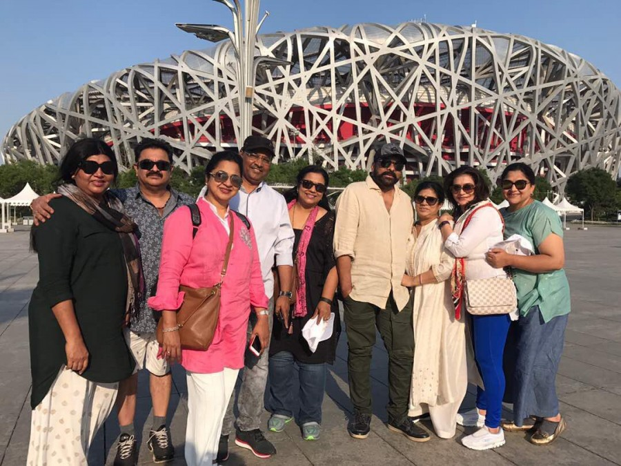 Chiranjeevi,Raadhika Sarathkumar,Khushboo,Suhasini Maniratnam,Chiranjeevi in China,Raadhika Sarathkumar in China,Khushboo in China,Suhasini Maniratnam in China