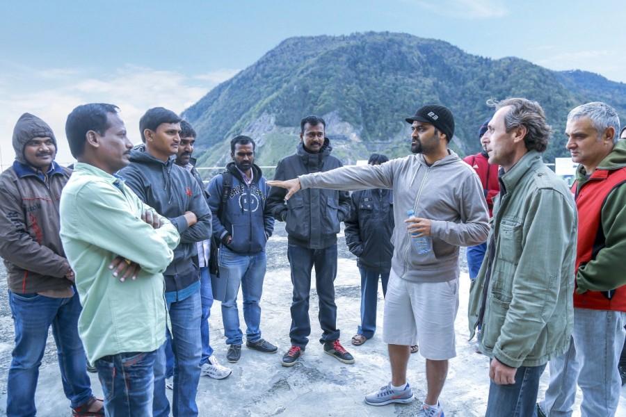 Garuda Vega,Garuda Vega team in Georgia,Dr. Rajsekhar,Pooja Kumar,Kishore,Telugu movie Garuda Vega
