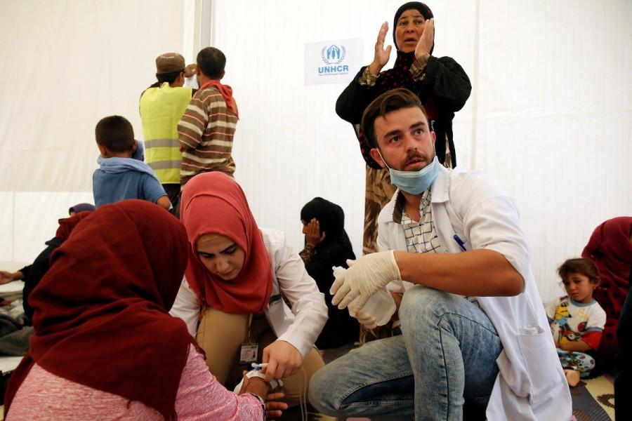 Food poisoning outbreak,Food poisoning,Food poisoning outbreak at Iraqi camp,Iraqi camp,Food poisoning at Iraqi camp,Iraqi city,Mosul