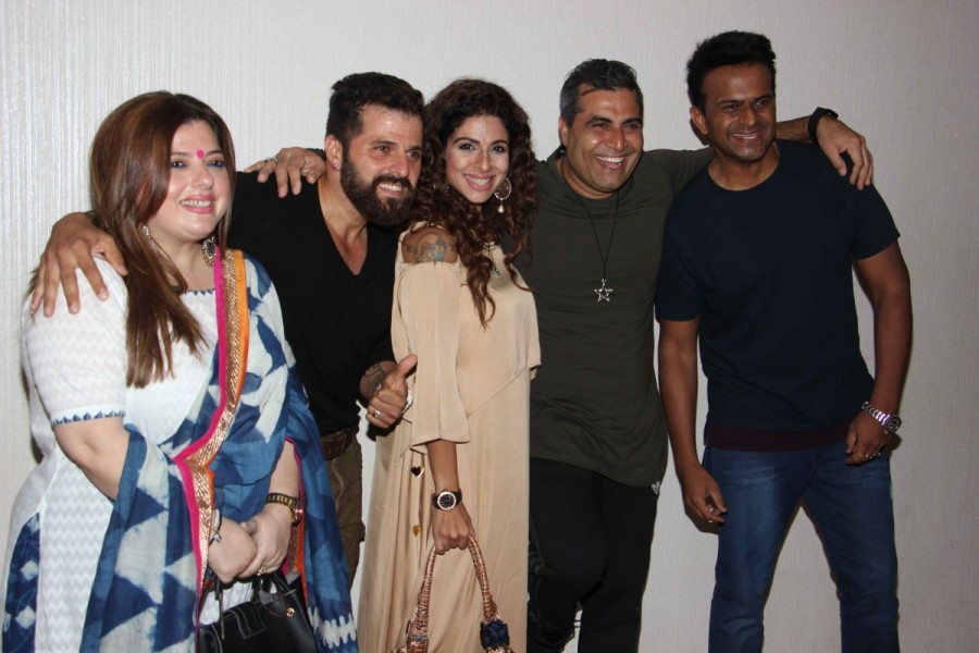 Vaishnavi Dhanraj,Television actor Bakhtiyaar Irani,Tanaaz Currim,Vahishta Bharucha,Launch of short film Drinks, Drama, Dhoka