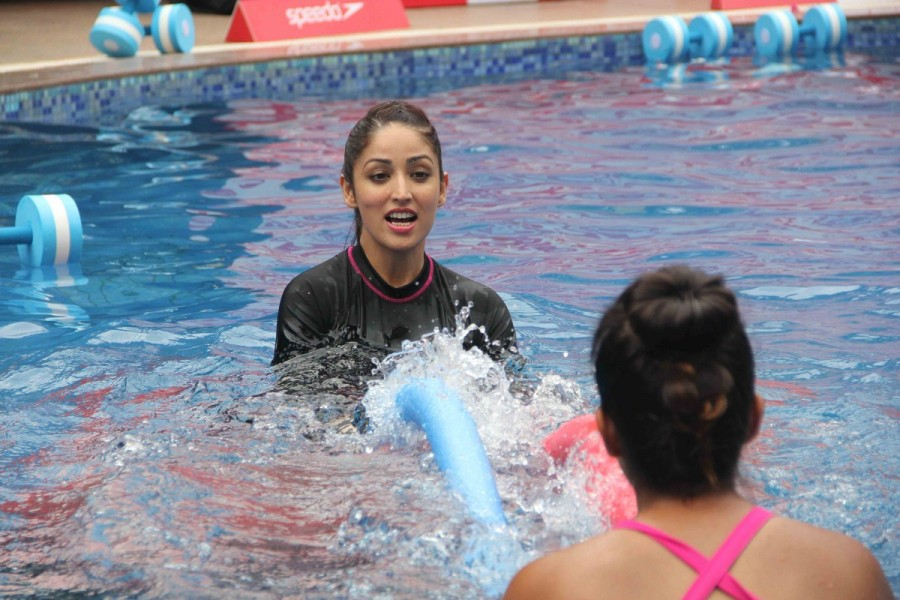 Yami Gautam,actress Yami Gautam,Speedo Aqua Fit,Speedo Aquafit-Vertical underwater fitness,Speedo Aquafit-Vertical underwater,Yami Gautam launches Speedo Aqua Fit