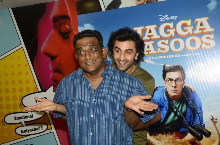Ranbir Kapoor and Anurag Basu,Ranbir Kapoor,Anurag Basu,Jagaa Jasoos,Jagaa Jasoos promotion,Jagaa Jasoos movie promotion,Media interaction of film Jagga Jasoos,Jagga Jasoos Media interaction