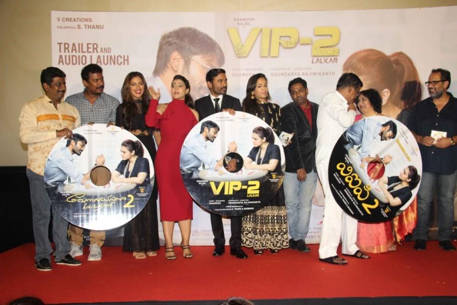 Dhanush,Kajol,Amala Paul,Taapsee Pannu,Soundarya Rajinikanth,VIP 2 trailer,VIP 2 trailer launch,VIP 2 trailer launch pics,VIP 2 trailer launch images,VIP 2 trailer launch stills,VIP 2 trailer launch pictures,VIP 2 trailer launch photos,VIP 2